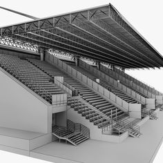 Buy Stadium Sport Soccer Tribune High detail by on Low and High poly model of stadium seating tribune. Stadium Architecture, Urban Architecture, Amazing Architecture, Civil Engineering Construction, Architecture Visualization, Football Stadiums, Project 3, Dom, Mall