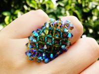 Swarovski crystal ring olvine beaded olive green anillo jewelry giift for girls mexico art joyeria https://www.kichink.com/buy/797774/chiiica/olivine-swarovski-ring#.VmHsabiGSko