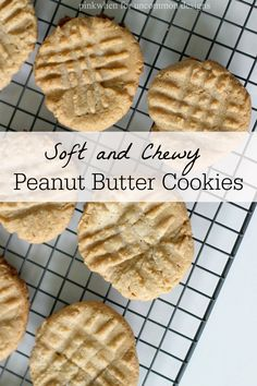 Soft and Chewy Peanut Butter Cookies... so easy and yummy! Great for an afterschool snack or tucked in the lunchbox! via Uncommon Designs