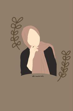 Girly Drawings, Art Drawings Sketches Simple, Illustration Art Drawing, Ink Illustrations, Love Cartoon Couple, Islamic Cartoon, Anime Muslim, Hijab Cartoon, Typography Poster