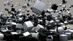 3840x2160 Wallpaper cubes, spheres, flying, explosion