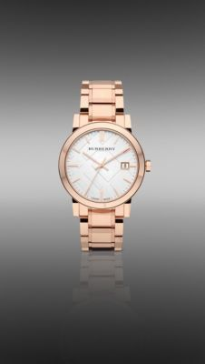 Burberry - 38MM ROSE GOLD-PLATED WATCH