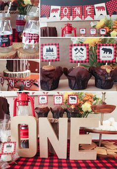 Lumberjack first birthday party decorations boy by CoralBalloon. Check out how I used it at http://wp.me/p6Ni0A-oj
