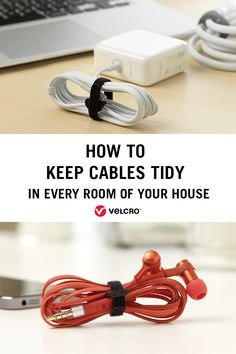 Learn how to keep cables tidy in your kitchen, bedroom, garage and study with our cable organisation tips. Cable Tidy Ideas, Handy Tips, Helpful Hints, Organisation Hacks, Organization, Cable Storage, Cable Organizer, Organize Your Life, Organising