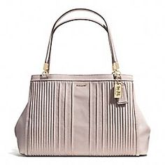 Coach :: MADISON CAFE CARRYALL IN PINTUCK LEATHER