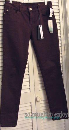 DL1961 Cherise Skinny Jean Burgundy - Stitch Fix Review October 2015 www.somuchtoenjoy.com #stitchfix #somuchtoenjoy