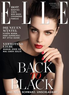 Olga Boiko by Nicolas Valois for Elle Germany November 2015 cover