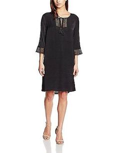 14, Black - Schwarz (Black 1000), Freequent Women's Johanne-dr Sleeveless Dress