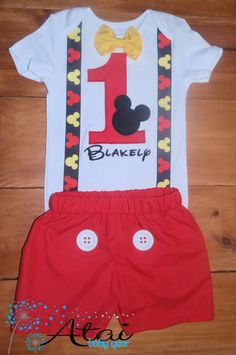 Mickey Mouse Birthday Outfit Mickey Mouse Bithday by AtaiBabyGear