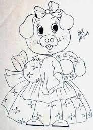 Resultado de imagem para pintura de porquinhos em tecido