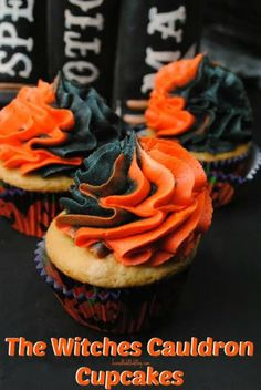 This Witches Cauldron Cupcake Recipe is AMAZING! Make them for a fall get-together or a Halloween party. The guest will be sure to love!