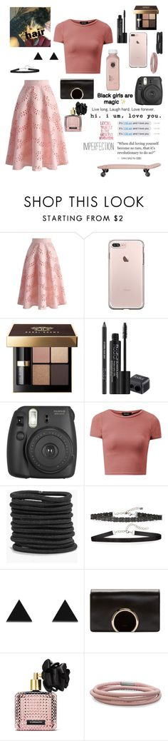 """""""Love Yourself"""" by ahriraine ❤ liked on Polyvore featuring Chicwish, Bobbi Brown Cosmetics, Rodial, Fujifilm, Boohoo, Chan Luu, Wolf & Moon, Chloé, Victoria's Secret and BillyTheTree"""