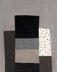 "Milton Ausherman: untitled (v5), oil on mounted mahogany panel, 18"" x 23"", 2012"