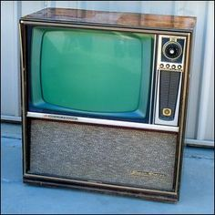 first of the colour tvs but sadly no remote controls as yet lol