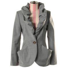Gathered collar jacket