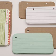 index cards in mini albums - I like the rounded corners