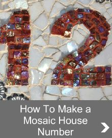 Customise this mosaic house number project to suit your home.