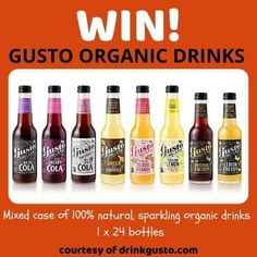 Competition Giveaway, Sparkling Drinks, Farm Shop, Sicilian, Hot Sauce Bottles, Organic