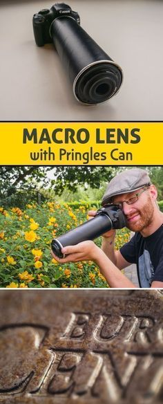 Macro photography doesn't have to be expensive at all. With this DIY lens, you can reach an awesome magnification. Just by using an ordinary Pringles can … The perfect excuse for a movie night: first you chill, then you make! #CameraGear
