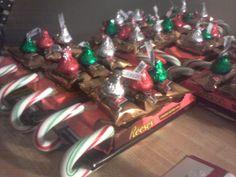 christmas party favors | Christmas Party Favors (Candy Sleighs) | Christmas