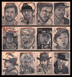 Yet More Indy Cards by *AdamHughes on deviantART