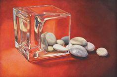 graphite drawings, colored pencil, stones, still-life, landscape, Massachusetts artist | D. L. Friedman