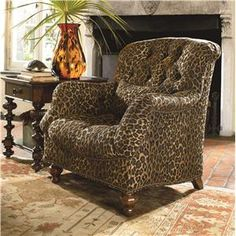 Ernest Hemingway 462 Deep Tufted Walden Chair With Nail Head Trim By  Thomasville