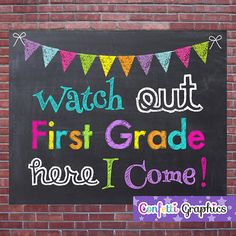 Hey, I found this really awesome Etsy listing at https://www.etsy.com/listing/192598475/watch-out-first-grade-here-i-come