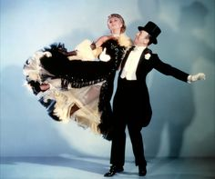 Ginger Rogers and Fred Astaire. Great dancing, and what a dress!