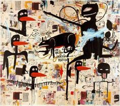 Jean-Michel Basquiat | Tenor, 1985 Acrylic, oil stick and Xerox collage on canvas 254 x 289,6 cm Private collection (courtesy Bruno Bischofberger, Zürich)