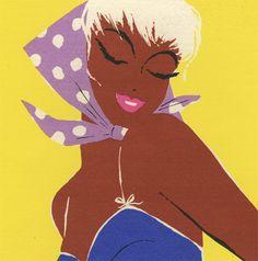 wave coif beauty shop 1958 poster