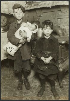 Two Boys With a Baby- Manhattan, NYC 1918: vintagephoto