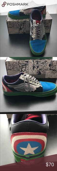 bbff2de5768 Vans X Marvel Old Skool Mens 8   Womens 9.5 Vans limited edition Marvel Old  Skool