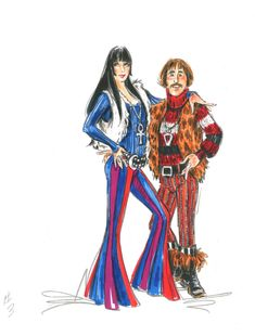"""Bob Mackie's costumes are the best thing about """"The Cher Show,"""" a Broadway bio-musical currently running at the Neil Simon Theatre. Cool Costumes, Halloween Costumes, Costume Ideas, Neil Simon Theatre, The Cher Show, Orry Kelly, Cher Bono, Edith Head, Concert Stage"""