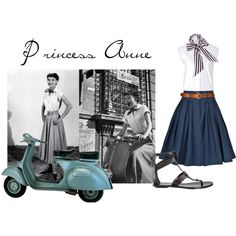 "How to look like ""Princess Anne"". A modern twist to Audrey Hepburn's outfit in Roman Holiday. #styleicon #modcloth"