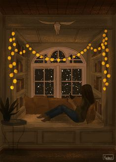 Animated gif discovered by Le Cirque des Rêves. Find images and videos about gif on We Heart It - the app to get lost in what you love. Art Anime Fille, Anime Art Girl, Anime Scenery, Aesthetic Art, Aesthetic Drawing, Night Aesthetic, Aesthetic Black, Aesthetic Bedroom, Cute Illustration