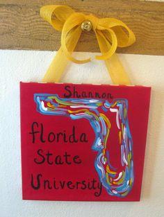 Florida State University Graduation Painting by tealejane on Etsy, $30.00
