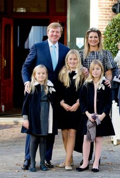 King Willem-Alexander of the Netherlands and Queen Maxima with their children Princess Ariane, Princess Catharina-Amalia, Princess of Orange and Princess Alexia