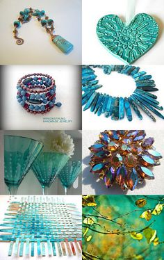 Turquoise variations, spsteam, inspirationchallenge94. by Marie ArtCollection on Etsy--Pinned with TreasuryPin.com