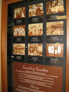 Display of founding families of St. Luke's Lutheran Church designed and installed by AAI | Assael Associates, Inc. (photo - CMF Public Media)