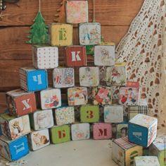 Купить Детские кубики с алфавитом - комбинированный, кубики, кубик, кубики деревянные, кубики декупаж