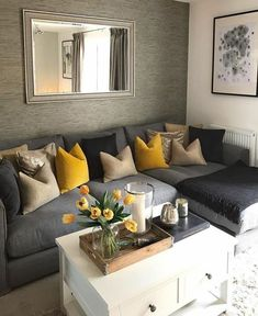 53 Inspirational Living Room Decor Ideas - Page 2 of 5 - Stylish Bunny Cozy Living Rooms, Living Room Grey, Home Living Room, Apartment Living, Interior Design Living Room, Living Room Designs, Modern Interior, Design Bedroom, Living Room Decor Grey And White