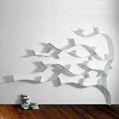 Libreria a parete ad albero Wallboarding7 | Mensole flessibili a muro in acciaio