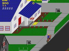 Paperboy. Not a large game, but well designed software wise? ?.
