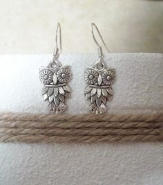 Pewter owl earrings, from etsy.com shop CrushOnYou.