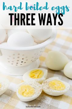 Hard Boiled Eggs Three Ways! I walk you through different ways to make the perfect hard boiled eggs. Learn how to make eggs in the oven do a quick boil and more. Use these hard boiled eggs for egg salad deviled eggs quick snacks etc. Healthy Egg Salad, Easy Egg Salad, Healthy College Snacks, Quick Snacks, Perfect Hard Boiled Eggs, How To Make Eggs, Portable Snacks, Game Day Snacks, Egg And I