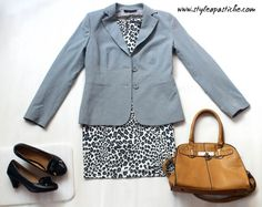 Monochrome Leopard Print: New Year Party Outfit