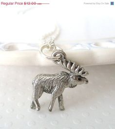 NEW YEARS SALE Silver Moose on the Loose Charm by lucindascharms, $9.60