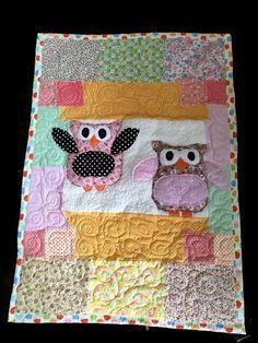 Baby quilt handmade -Modern quilt -baby blanket-handmade baby gifts