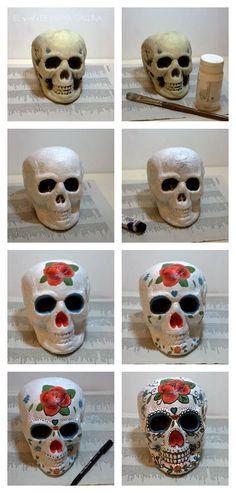 como decorar una calavera mexicana